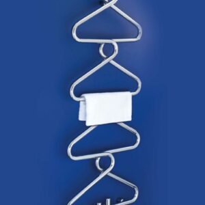 Quirky coat hanger style towel radiator from Bisques designer radiator range