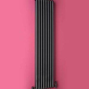 A stylish vertical designer column radiator