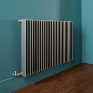 Sleek modern designer radiator with sharp lines attribute to Bisque's Finn radiator