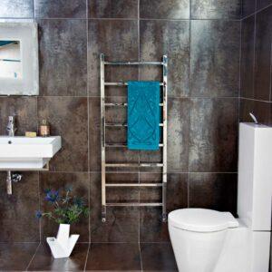 JIS Brunswick towel radiator in stainless steel