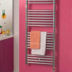 Klaro towel radiator fro Cloakroom product lifestyle bathroom electric