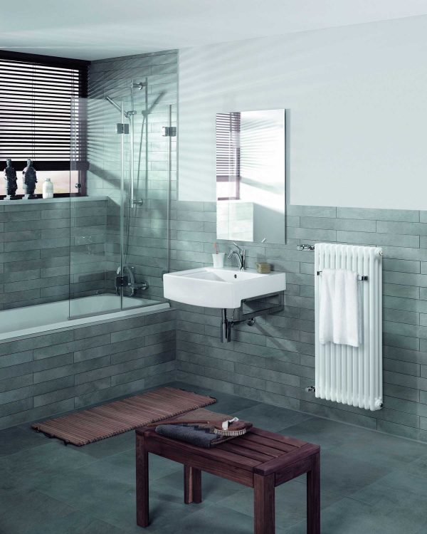 Part of Zehnders Designer Radiator Collection in a Traditional Style Cloakroom Towel Radiator