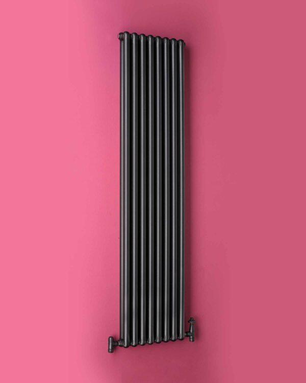 A stylish vertical designer column radiator
