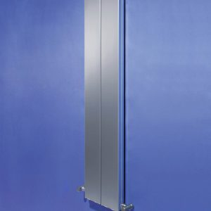A modern flat panel vertical designer radiator from Bisques designer collection