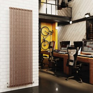 DQ New Vulcano Vertical radiator with a stylish curved look sits well within the designer radiator category