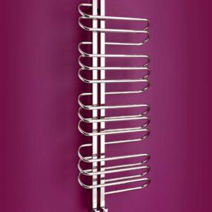 Part of Bisque's Designer towel radiator range is the funky orbit towel radiator