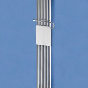 A quirky streamline towel warmer radiator in the efficient stainless steel