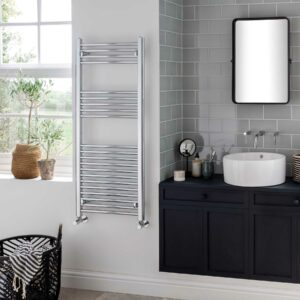 Vogue Axis modern towel radiator in chrome