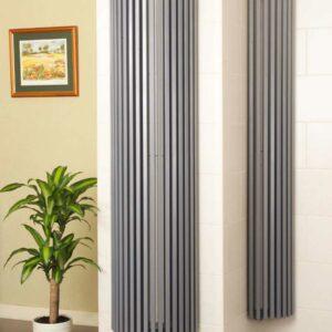 Apollo Bassano Round vertical designer radiator lifestyle
