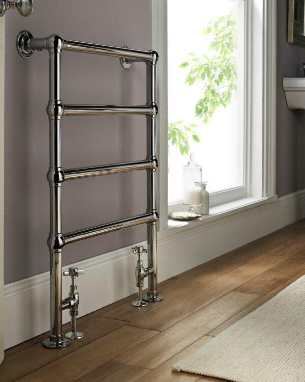 Vogue Ballerina towel radiator in metallic made of mild steel