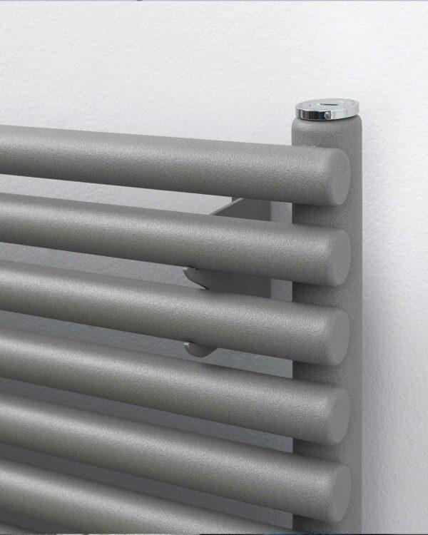 R2R Battersea Horizontal radiator Textured grey