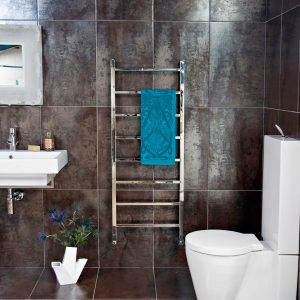 JIS Brunswick towel radiator in stainless steel