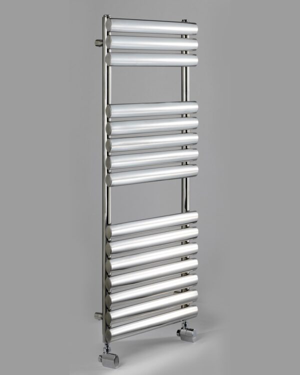 DQ Cove Towel Radiator in Stainless Steel grey