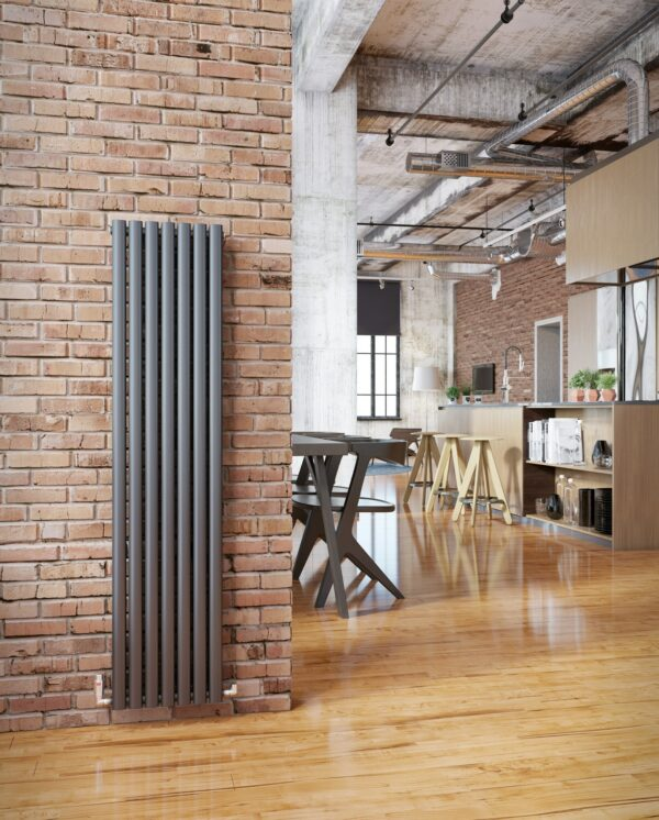 DQ Cove vertical radiator,Anthracite comes as single and double
