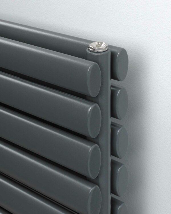 Rads 2 Rails Finsbury Vertical designer radiator Anthracite detail