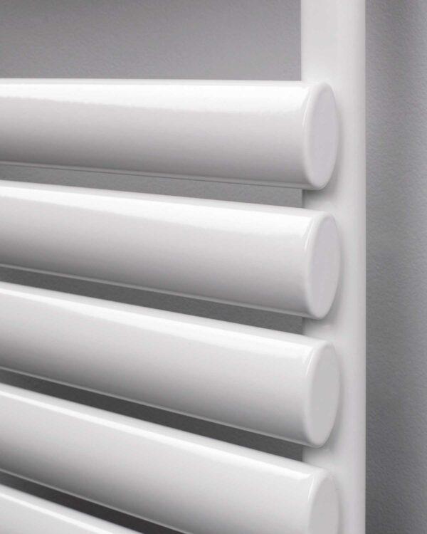 Rads 2 Rails Finsbury Horizontal designer radiator White detail