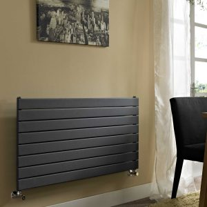 Vogue Fly Line Horizontal designer radiator Anthracite lifestyle