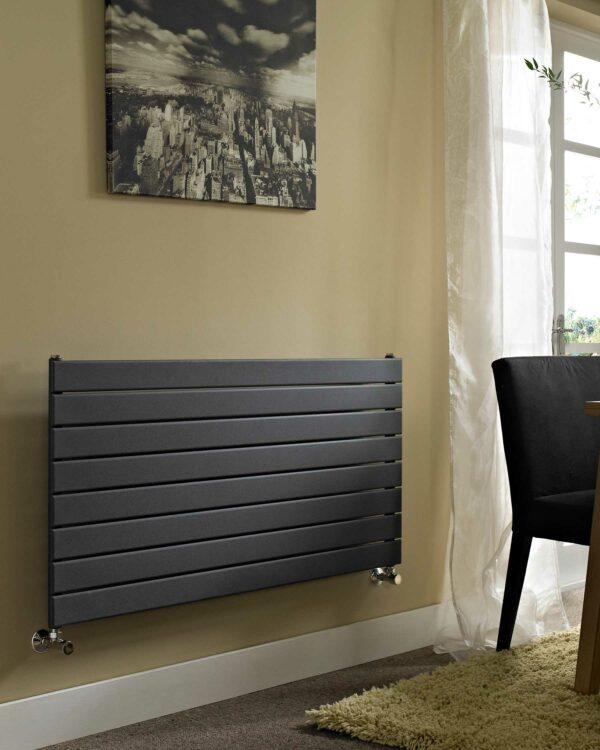 Vogue Fly Line Horizontal designer radiator Anthracite lifestyle