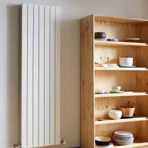 Vogue Fly Line Vertical designer radiator white lifestyle