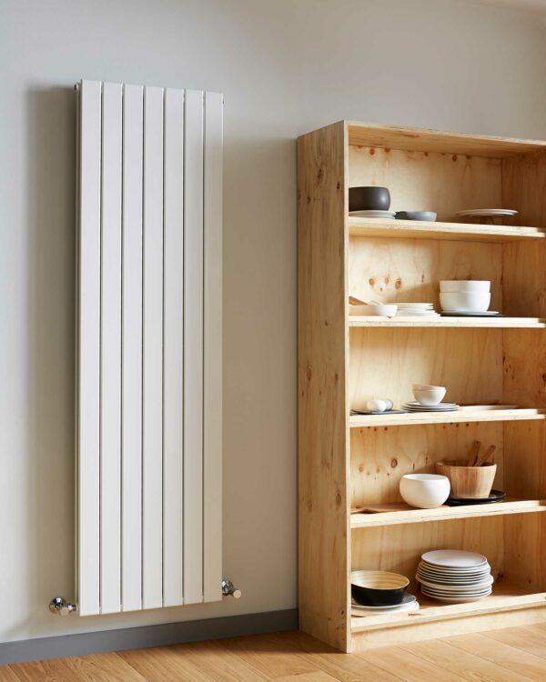 Vogue Fly Line Vertical designer radiator white lifestyle