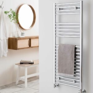 Vogue Focus towel radiator, chrome