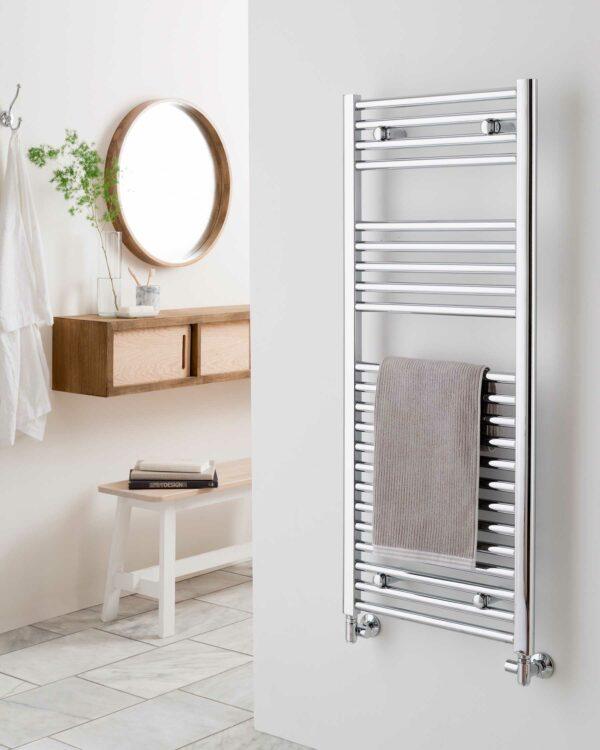 Vogue Focus towel radiator, chrome