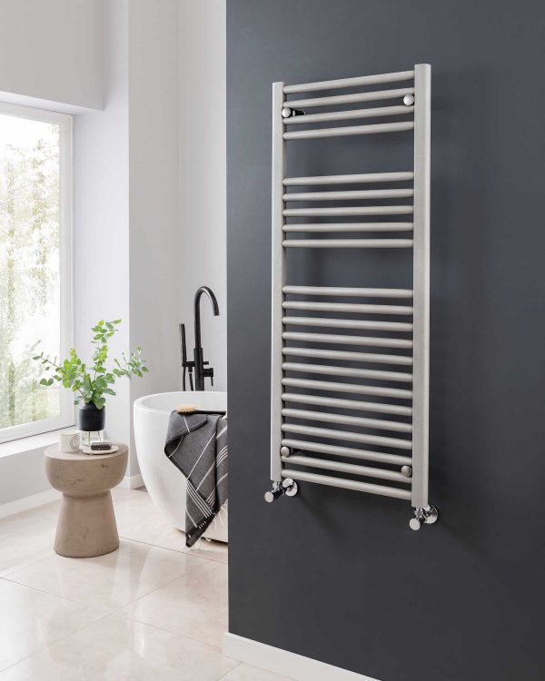 Vogue Focus towel radiator, grey sparkle
