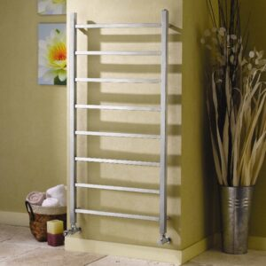 apollo genova straight stainless steel towel rail radiator