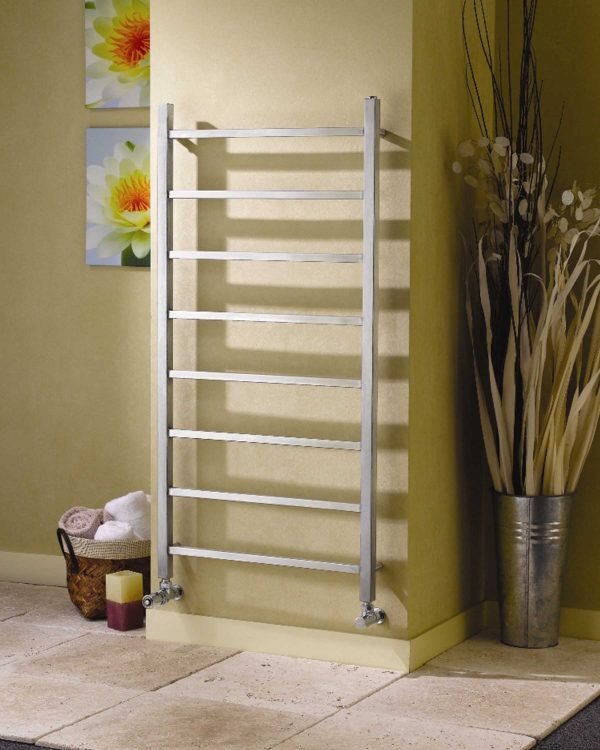 apollo genova straight stainless steel towel rail radiator
