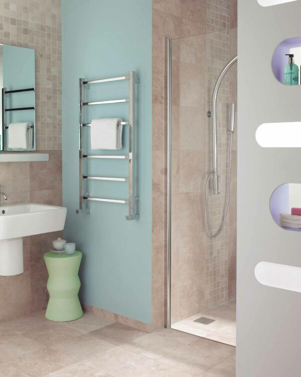 Gio Towel Radiator finished polished to a dazzlingly super standard lifestyle