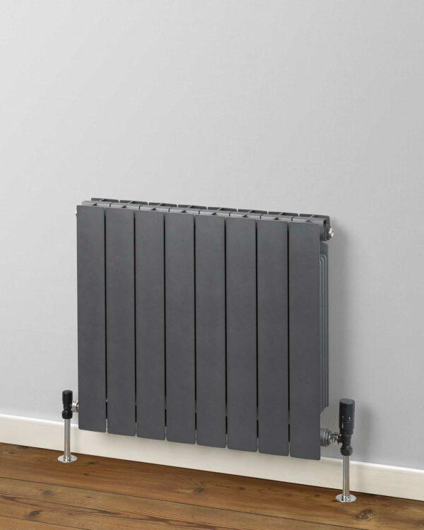 R2R Holborn Designer radiator Horizontal Gun Metal