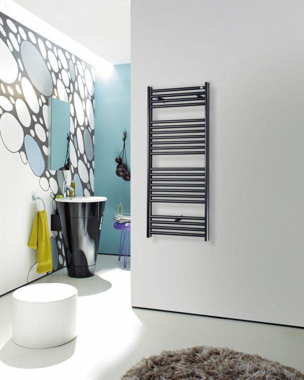 Klaro towel radiator fro Cloakroom product lifestyle bathroom