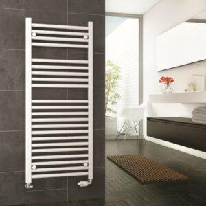 DQ Metro Towel Radiator Chrome & White Lifestyle