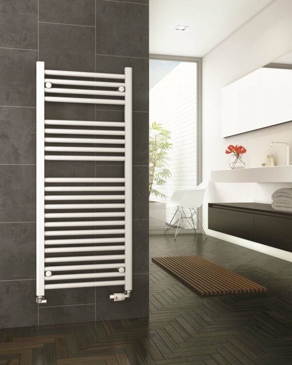 DQ Metro Towel Radiator Chrome & White Lifestyle