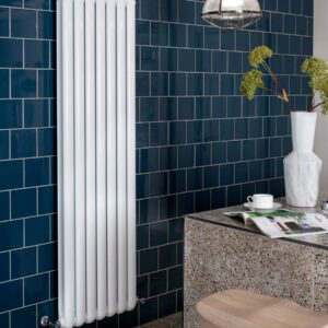 Vogue Mode II designer radiator modern white vertical lifestyle
