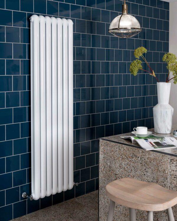 Vogue Mode II designer radiator modern white vertical lifestyle