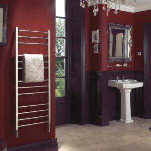Bisque Olga Towel radiator Mirror stainless steel central heating lifestyle
