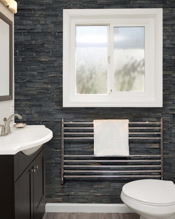 Vogue Pearl towel radiator polished stainless steel