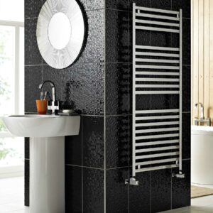 Vogue Squire towel radiator in chrome and anthracite