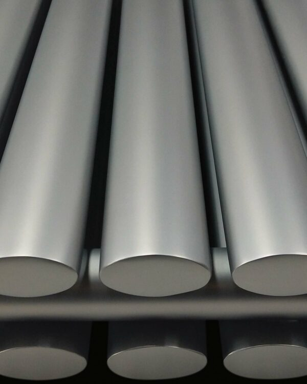 DQ Tao Vertical Radiator, with curved vertical bars, close up