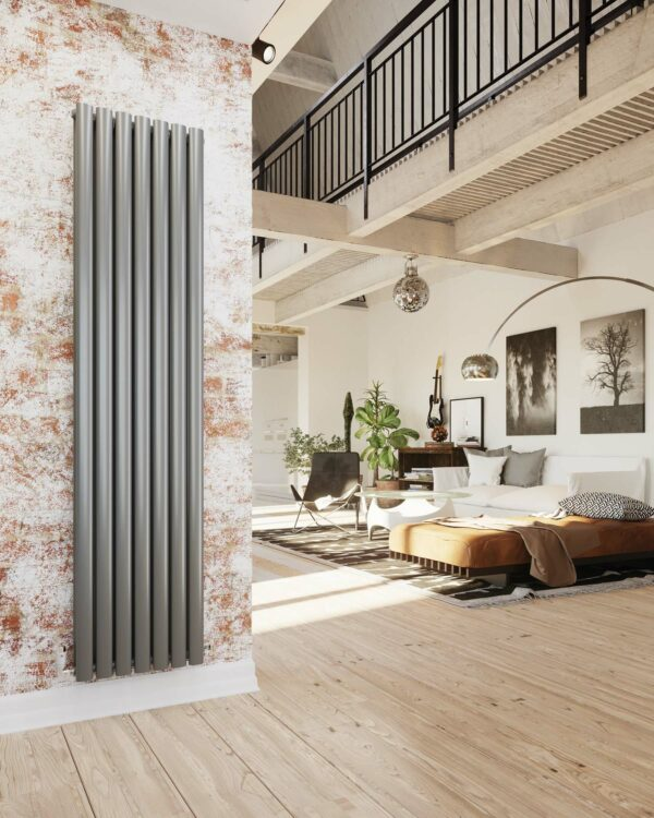DQ Tao Vertical Radiator, with curved vertical bars.