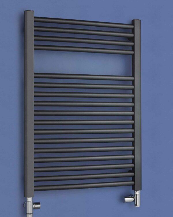 Bisque Deline vertical towel radiator Volcanic