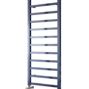 Fano Satin Blue Towel rail radiator aluminium