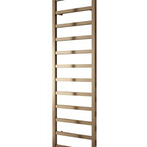 Reina fano satin bronze aluminium towel radiator rail