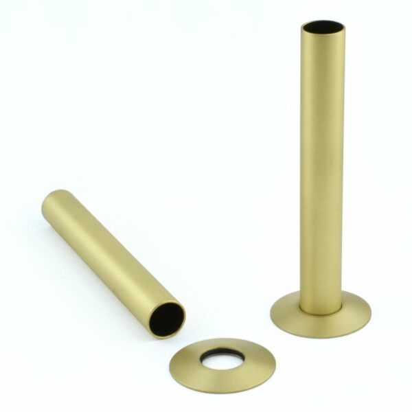 Pipe Cover Brushed Brass