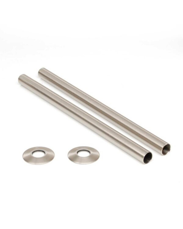 pipe covers satin nickel