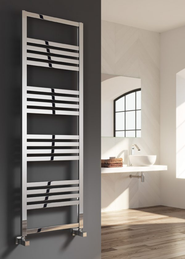 reina bolca satin polished towel radiator aluminium