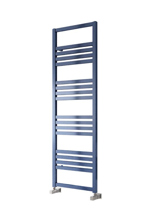reina bolca satin blue towel radiator aluminium