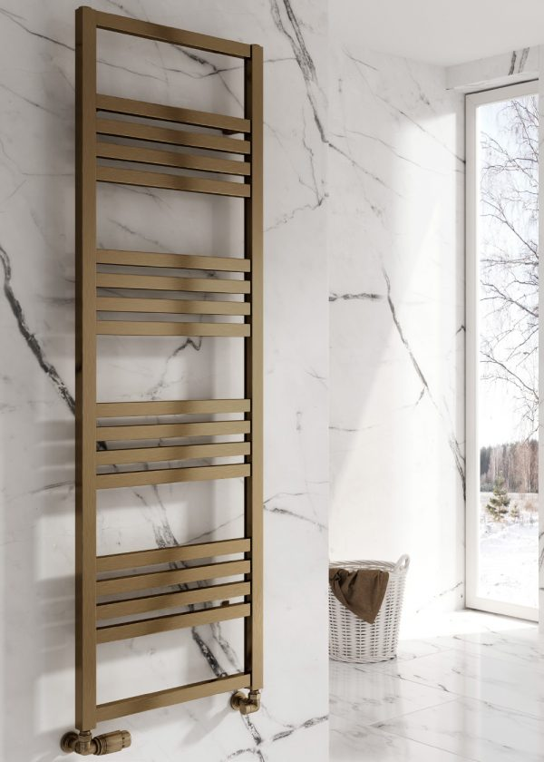 reina bolca satin bronze towel radiator aluminium modern