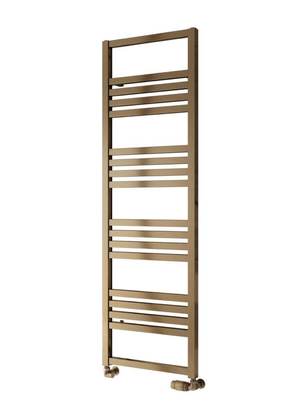 reina bolca satin bronze towel radiator aluminium